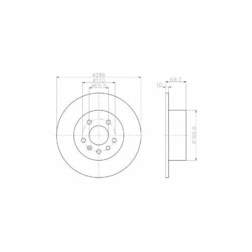 VAUXHALL VECTRA MK1//B 1.8i 16 V Estate Véritable Mintex Arrière Disque De Frein /& Pad Set