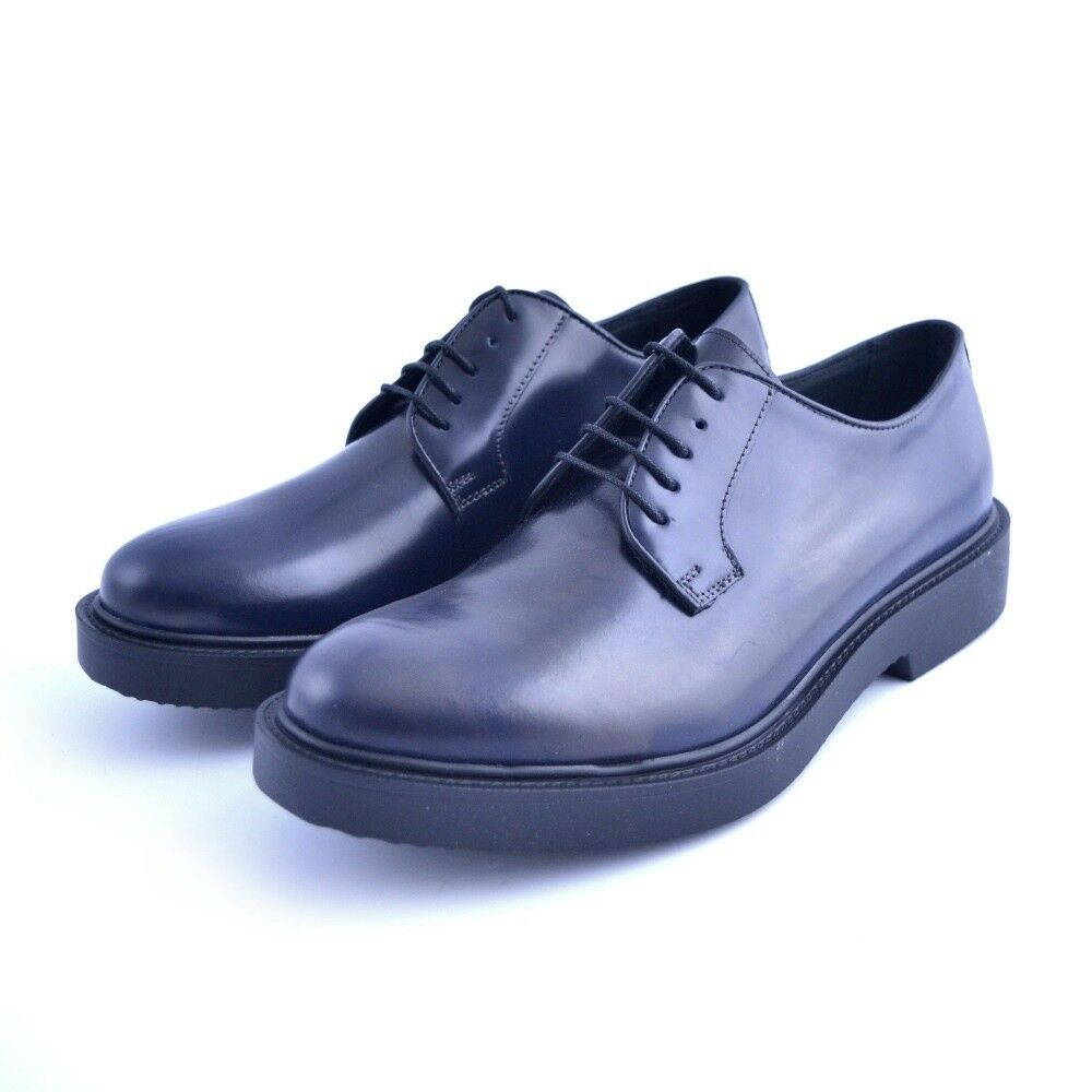 Los zapatos más populares para hombres y mujeres zapatos clásicos zapatos Soldini hombre de piel azul cordones made in italy