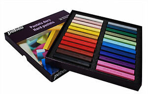 Pebeo-Artists-039-Hard-Drawing-Pastels-Box-Set-24-Assorted-Colour-Sticks