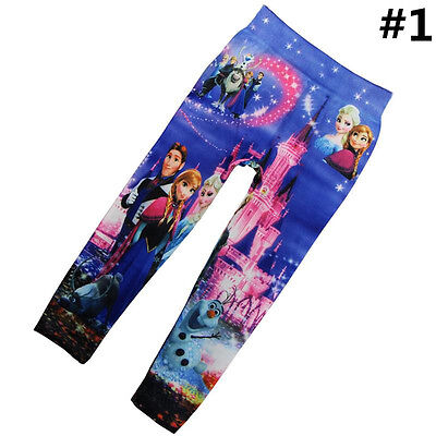 4-10Y Cute Girls' Colorful Skinny Leggings Casual Kid's Stretchy Pants Trousers