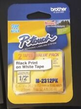 Double Pack Brother P Touch M Tape 12 Inch Black On White Mk 2312pk