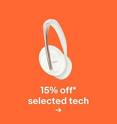 15% off* selected tech