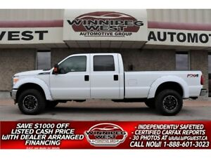 2012 Ford F 350 FX4 CREW 6.2L 4x4, 8 FOOT BOX WELL EQUIPPED & NICE