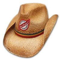 Red Stripe Straw Shapeable Cowboy Hat Licensed
