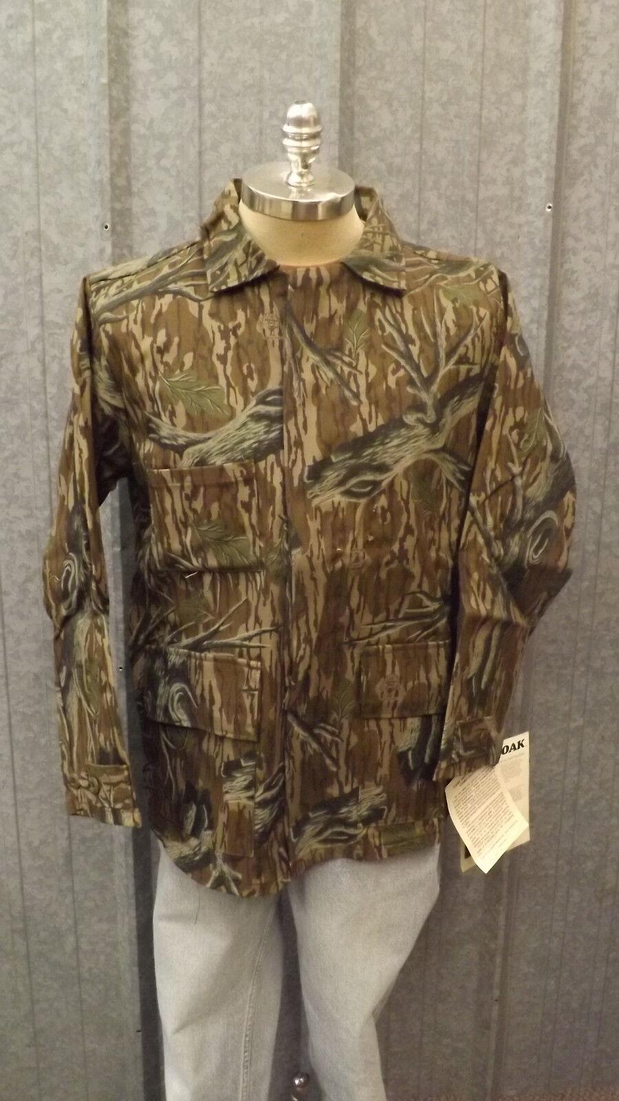 De Colección Nuevo Árbol Soporte camuflaje Mossy Oak Original De Lona de algodón de pato Resistente Chaqueta De Talle L