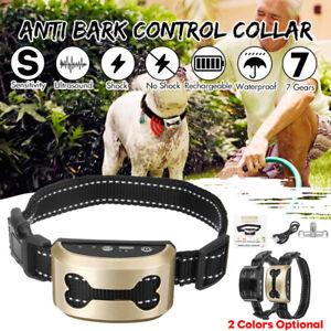 7-Gear-Electric-Shock-Anti-Bark-Collar-Dog-Stop-Barking-Training-Control-Trainer
