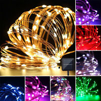 100 150 200 LED Solar Power Fairy Lights String Garden Outdoor Party Wedding New