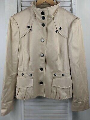BOSS Hugo Boss Womens Jamilla Black-Ivory Collarless Blazer Jacket 10 BHFO 2288