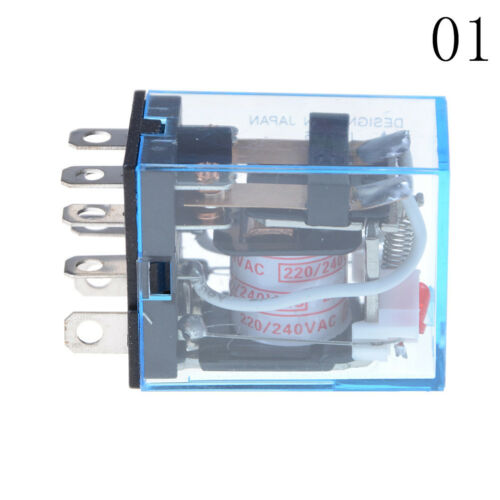 10A AC220V Spulenstromrelais LY2NJ HH62P 8 Pins 2 offen 2 schließen mit SockelZP