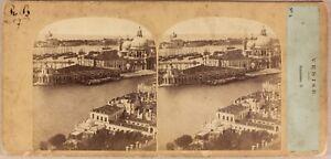 Italia-Venezia-Panorama-c1860-Foto-Po-039-di-Tempo-amp-Tournier-Vintage-Albumina