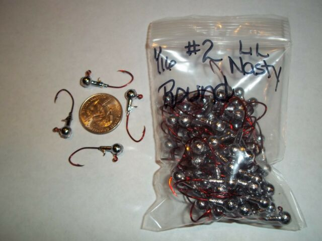 1//16oz #2 MINNOW HEAD LEAD HEAD EAGLE CLAW RED 100ct