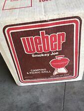 Vintage 1980 Weber Smokey Joe Bbq Kettle Grill Nib Nos Unused Collector Quality
