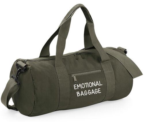 Funny  Slogan Barrel Emotional Baggage Duffle Bag Spin Sports Yoga Gym