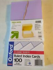 Oxford Upampup 4 X 6 Ruled Index Cards White 100pack 2 Pack Plus Open Box