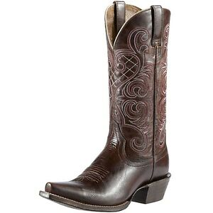 New Womens Ariat 10011920 Bright Lights Mahogany leather cowboy Boots