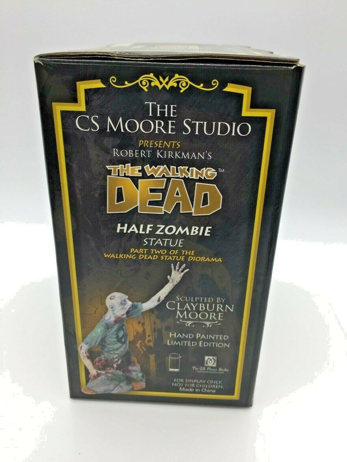 punto de venta The Walking Dead Dead Dead  la mitad Zombie estatua  299 de 1000 Gráfico Novel Cs Moore Studio  100% autentico