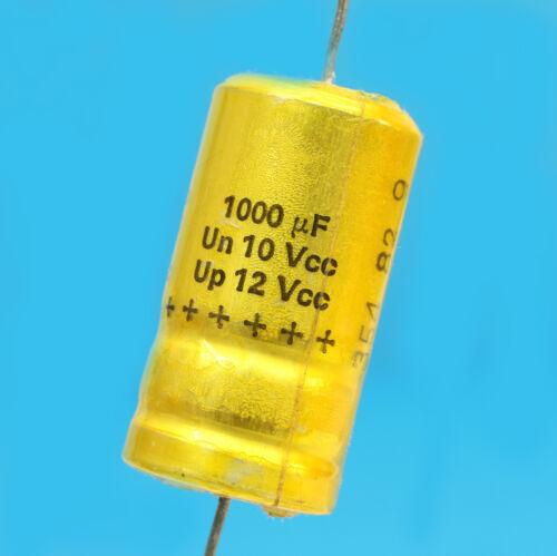 CONDENSATEUR CHIMIQUE AXIAL 1000 MF µF 10 V SIC-SAFCO RELSIC  CO33 VINTAGE