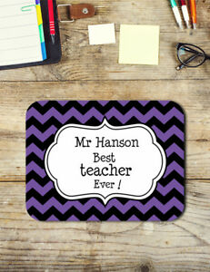 Teacher Gifts Personalised Best Teacher Ever Mouse Pad Easy Glide Neoprene