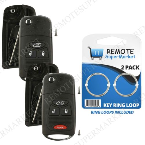 2 Replacement for Chrysler 200 300 Aspen Remote Car Key Fob 4b Shell Case