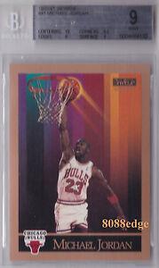 b1c5d34e40f 1990-91 SKYBOX BASE CARD  MICHAEL JORDAN  41 BGS 9 W  10 PERFECT ...