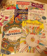 8 Adult Coloring Books 7 are Kappa Designer Series 32 Images in Each Book