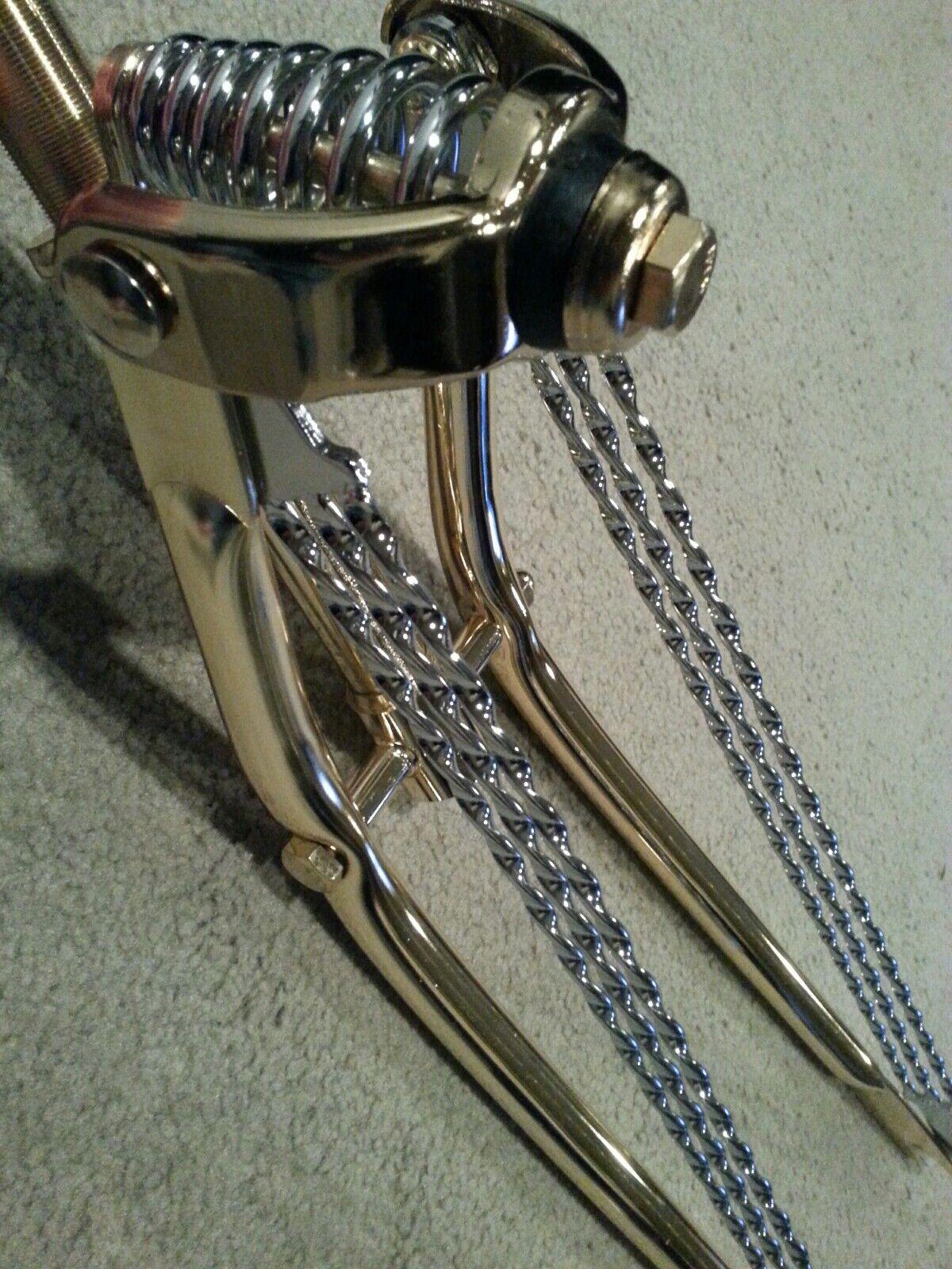 Clásico oro Springer horquilla con barras de trenzado triple 26  bicicletas Jugara Crucero