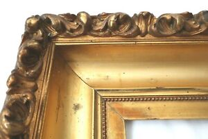 ANTIQUE FITS 11X14 LEMON GOLD GILT PICTURE FRAME WOOD FINE ART COUNTRY PRIMITIVE