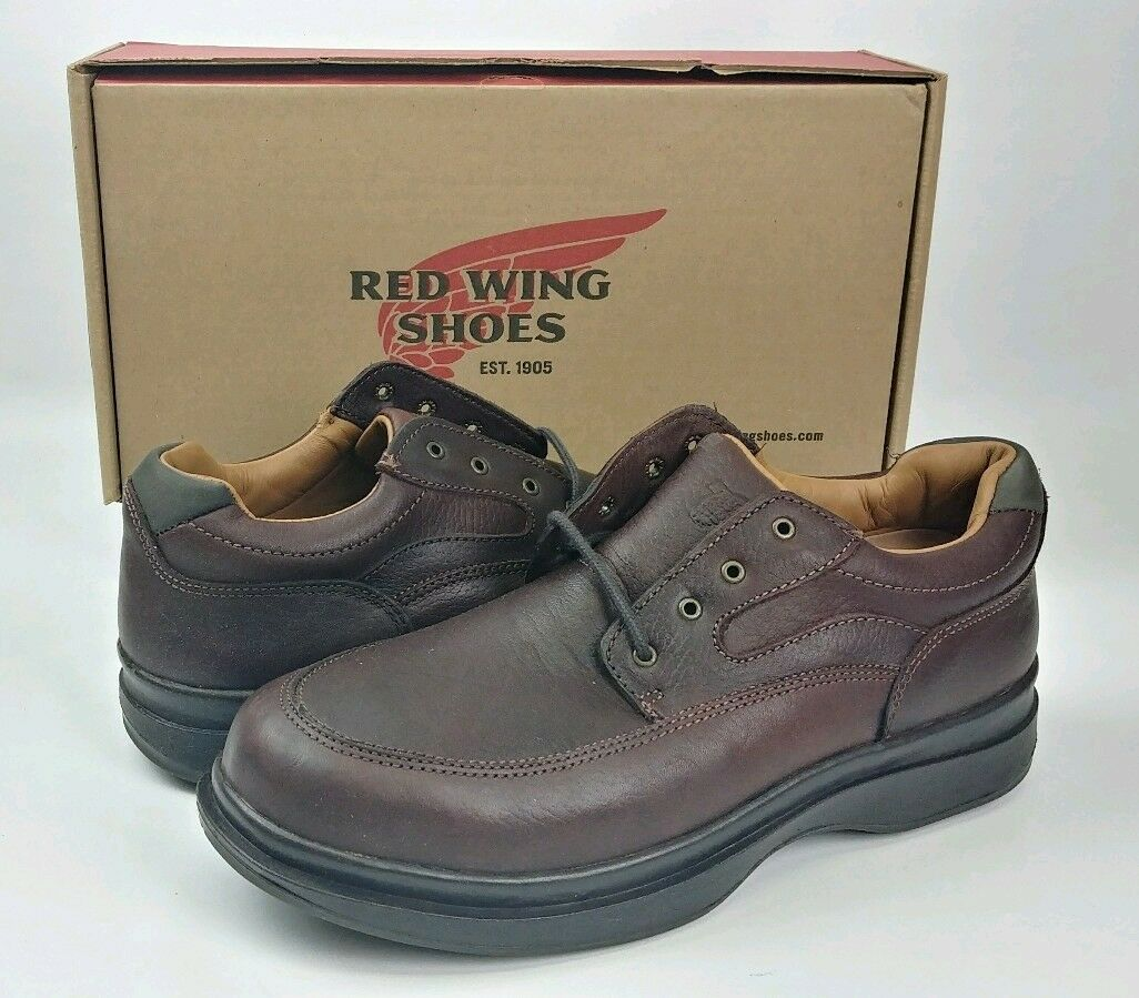 Red Wing Mens Oxford Electrical Hazard Brown Leather shoes USA 8637 Size  8 D