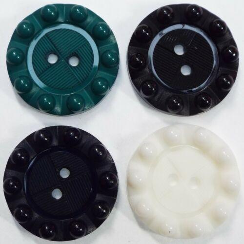 4 Color 15 18 22mm Retro Vintage Style Bump Borde Botón Abrigo Vestido comprar 2 4 8