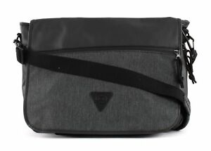 Capable Esprit Material Mix Messenger Bag Black