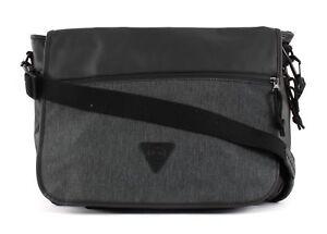 Capable Esprit Material Mix Messenger Bag Black