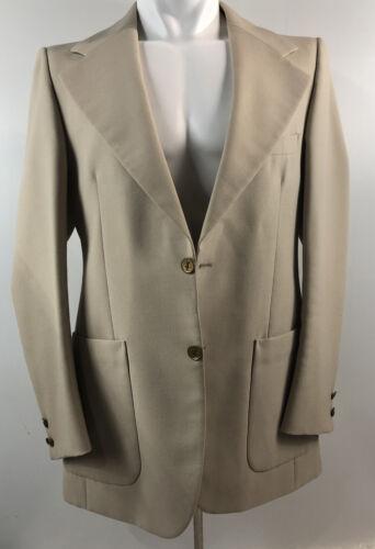 YSL Saint Laurent Suit Blazer Jacket 40 Linen Gold