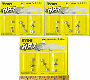 9pc TYCO HO Slot Car Factory Service Parts HP-7 CROWN GEAR WHEEL AXLE SET Carded