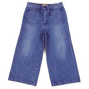 Point Sur J Crew Women's Wide Leg Crop Jeans Size 31 Measure 32x24 Blue