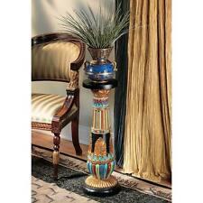 "Design Toscano 26"" Hand Painted Regal Egyptian Luxor Sculptural Pedestal"
