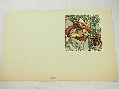Antik 1916 Noticard Faltbar Grußkarte P. F.volland & Co. #71 Mint