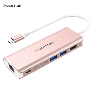 USB C Hub 7in2 Type-C Adapter With Card Reader 4K HDMI Ethernet For MacBook Pro