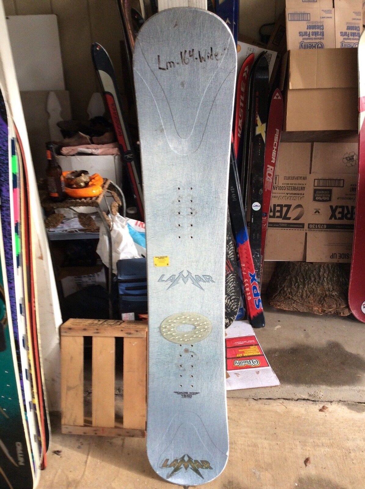 """Vintage Lamar roadie wide 1640"""" snowboard"""