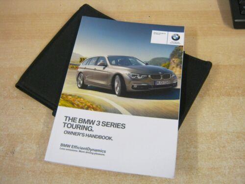 BMW 3 SERIES  TOURING 2016-2018  handbook pack OWNERS MANUAL
