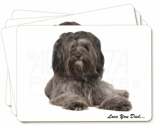 Tibetan Terrier Dog 'Love You Dad' Picture Placemats in Gift Box, DAD192P