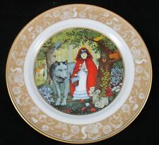 Vintage 1978 Grimm's Fairy Tales Franklin Porcelain Plate Little Red Riding Hood