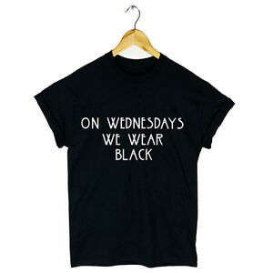 ON WEDNESDAYS WE WEAR BLACK T SHIRT MEAN GIRLS FASHION TUMBLR NEW ...