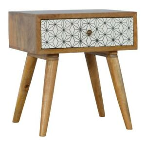 Scandinavian style solid wood patterned single drawer bedside table image is loading scandinavian style solid wood patterned single drawer bedside watchthetrailerfo