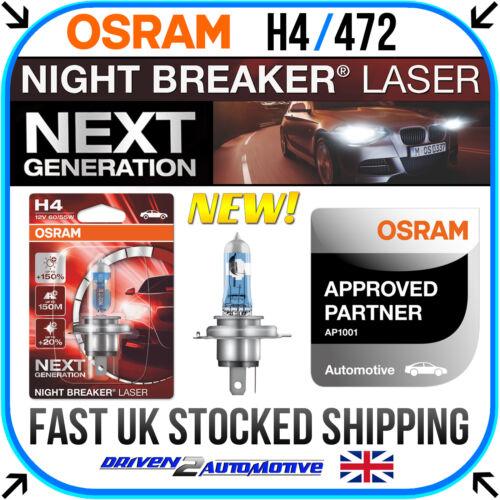 1x H4 OSRAM NIGHT BREAKER LASER BULB FOR FORD RANGER 2.2 TDCi 4x4 04.11