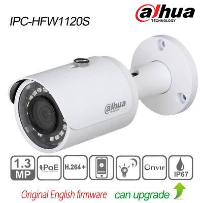 Dahua 1.3MP 3.6mm Network Mini IR Bullet IP Camera Outdoor POE IPC-HFW1120S PAL