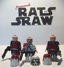 LEGO STAR WARS MINIFIGURE-CLONE CUSTOM COMANDANTE BACARA + x2 GALATTICA Marines