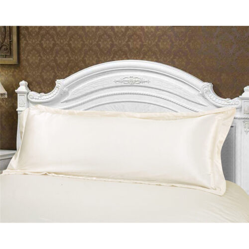 Comfortable Silk Satin Long Body Pillow Pillowcase Double Pillow Cover