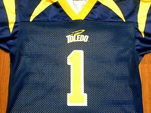 newest collection fe086 883fe Details about Vintage Toledo Rockets #1 Football Jersey by OT Sports, Youth  Large, NICE!!