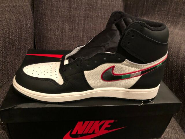 de7158bba3aa Men s Nike Air Jordan 1 Retro High OG Sports Illustrated Black White ...