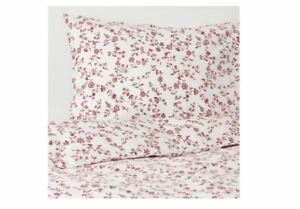 Funda Nordica Ikea 90.Ikea Hassleklocka Duvet Cover And Pillowcase S White Pink King